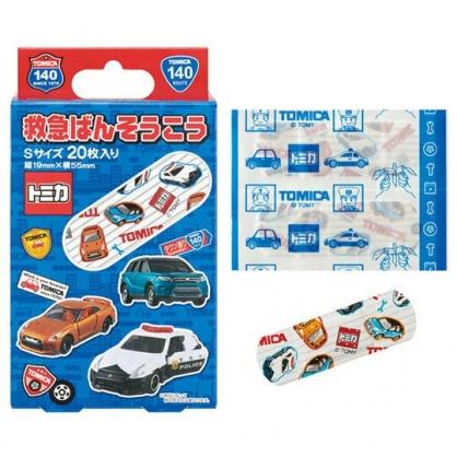 〔小禮堂〕TOMICA小汽車 日製盒裝OK蹦組《藍.多車種》20枚入.繃帶.貼布