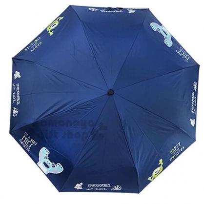〔小禮堂〕迪士尼 怪獸大學 加大折疊自動傘《深藍.大吼》折傘.雨傘.陽傘