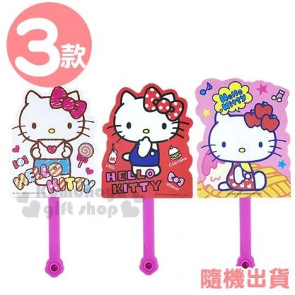 〔小禮堂〕Hello Kitty 造型塑膠折扇《3款隨機.粉/白/紅》人型扇.手拿扇