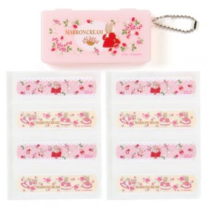 〔小禮堂〕兔媽媽 日製OK蹦附收納盒《紅粉.玫瑰》8枚入.繃帶.貼布