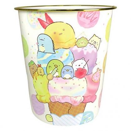 〔小禮堂〕角落生物 圓形無蓋垃圾桶《金黃.冰淇淋》書報桶.收納桶.置物桶