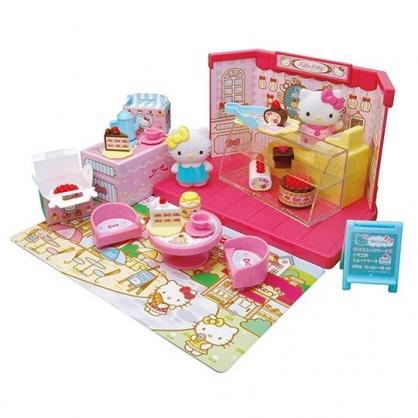 〔小禮堂〕Hello Kitty 蛋糕甜點店玩具組《粉.泡殼裝》扮家家酒.兒童玩具