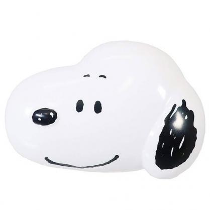 〔小禮堂〕史努比 大臉造型氣墊蛋形梳《黑白》氣墊梳.按摩梳