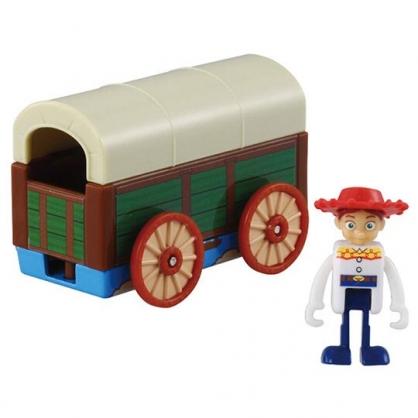 〔小禮堂〕玩具總動員 翠絲 TOMICA安弟的玩具箱公仔模型《黃綠.TS-05》多美小汽車.玩具