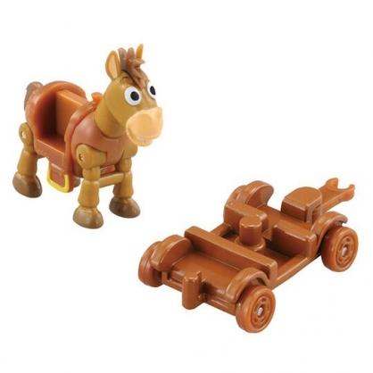 〔小禮堂〕玩具總動員 紅心 TOMICA木製推車公仔模型《棕.TS-06》多美小汽車.玩具