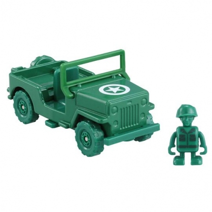 〔小禮堂〕玩具總動員 綠色小士兵 TOMICA軍事車公仔模型《綠.TS-07》多美小汽車.玩具
