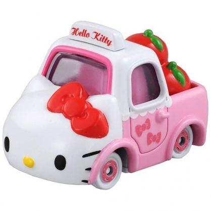 〔小禮堂〕Hello Kitty TOMICA小汽車蘋果貨車《粉白.NO.152》公仔.玩具.模型