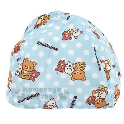 〔小禮堂〕懶懶熊 拉拉熊 安全帽內襯《淡藍.點點》機車配件.帽套