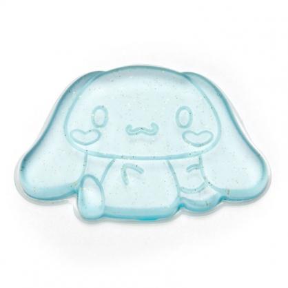 〔小禮堂〕大耳狗 造型透明矽膠粉撲《藍.亮粉》silicone puff