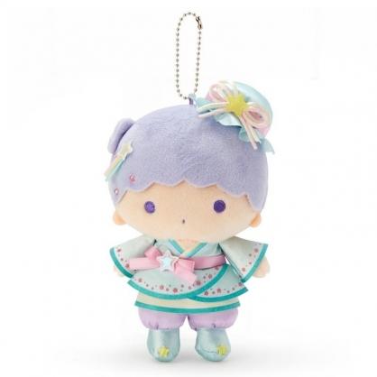 〔小禮堂〕雙子星KIKI 七夕絨毛玩偶娃娃吊飾《綠紫》擺飾.掛飾.七夕娃娃