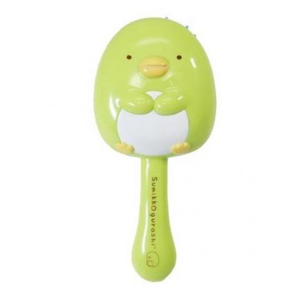 〔小禮堂〕角落生物 企鵝 造型塑膠氣墊手握梳《綠.坐姿》氣墊梳.直梳