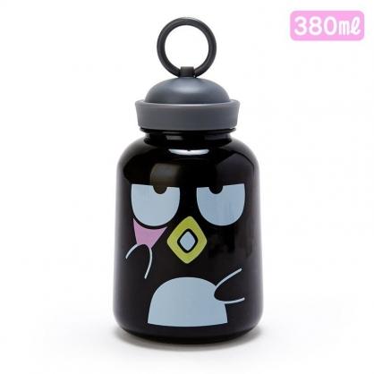 〔小禮堂〕酷企鵝 水手帽造型蓋塑膠隨身冷水瓶《黑》380ml.水壺.隨身瓶