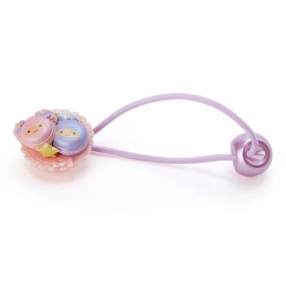 〔小禮堂〕雙子星 甜點造型塑膠彈力髮束《粉紫.馬卡龍》髮圈.髮飾
