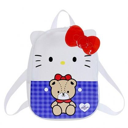 〔小禮堂〕Hello Kitty 造型透明防水兒童後背包《藍白.大臉小熊》雙肩包.游泳背包