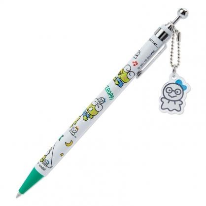 〔小禮堂〕大眼蛙 日製吊飾自動原子筆《白綠》黑筆.晴天郊遊系列