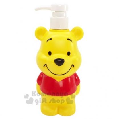 〔小禮堂〕迪士尼 小熊維尼 造型塑膠按壓式空瓶《黃紅.站姿》500ml.沐浴罐.乳液罐