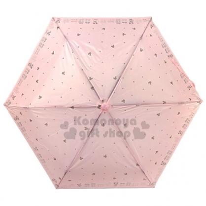 〔小禮堂〕迪士尼 米奇米妮 超輕量折疊雨陽傘《粉.大臉星星》折傘.雨具