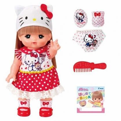 〔小禮堂〕小美樂娃娃 x Hello Kitty 照顧寶寶玩偶玩具組 《紅白》洋娃娃.兒童玩具