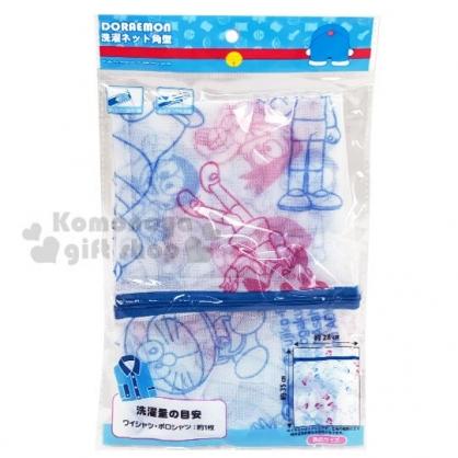 〔小禮堂〕哆啦A夢 長方形洗衣袋《藍粉.角色》收納袋.洗衣網.銅板小物