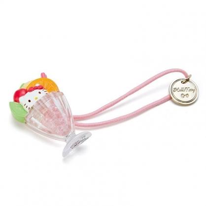 〔小禮堂〕Hello Kitty 聖代杯造型壓克力彈力髮束《粉橘》髮圈.髮飾.熱帶沙灘系列