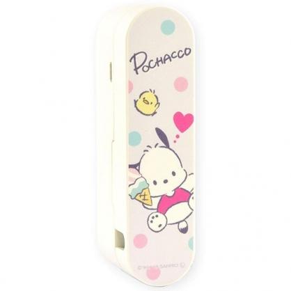 〔小禮堂〕帕恰狗 折疊充電式手持電風扇《粉白.冰淇淋》隨身風扇.手握扇