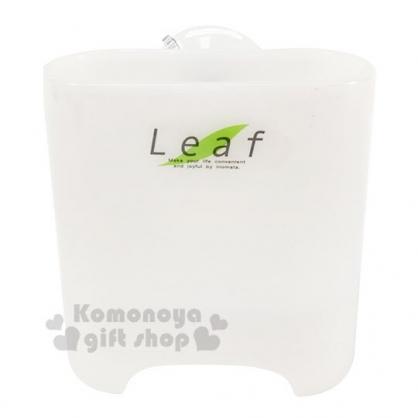 〔小禮堂〕日本LEAF 日製吸盤塑膠濾水置物架《白》收納架.餐具架.皂架