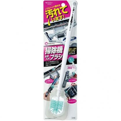 〔小禮堂〕日本INOMATA 日製長柄吸塵器清潔刷《綠白》掃除刷.刷具