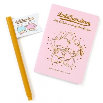 〔小禮堂〕雙子星 仿護照空白筆記本原子筆組《粉金》記事本.手札.手記