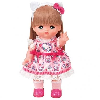 〔小禮堂〕小美樂娃娃 x Hello Kitty 玩偶娃娃換裝衣服配件組 《粉白.洋裝》洋娃娃配件