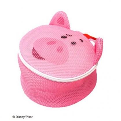 〔小禮堂〕玩具總動員 培根豬 大臉造型圓筒洗衣袋《粉》洗衣網袋