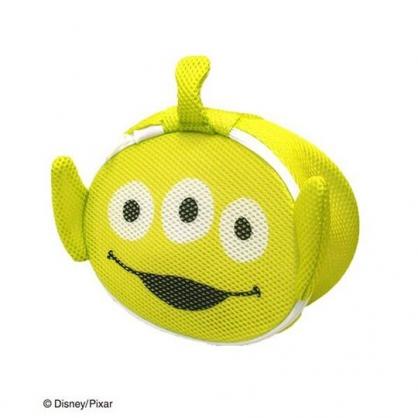 〔小禮堂〕玩具總動員 三眼怪 大臉造型圓筒洗衣袋《綠》洗衣網袋