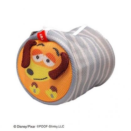 〔小禮堂〕玩具總動員 彈簧狗 大臉造型圓筒洗衣袋《灰橘》洗衣網袋