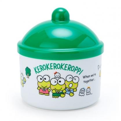 〔小禮堂〕大眼蛙 圓形塑膠拿蓋收納罐《綠白》置物罐.飾品罐.晴天郊遊系列