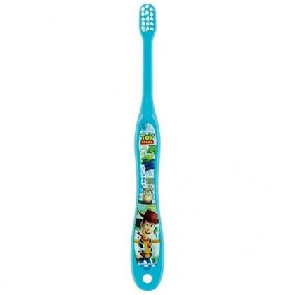 〔小禮堂〕迪士尼 玩具總動員 嬰幼兒牙刷《藍綠.摸帽子》0-3歲適用.兒童牙刷.口腔清潔