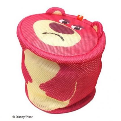 〔小禮堂〕玩具總動員 熊抱哥 大臉造型圓筒洗衣袋《桃》洗衣網袋
