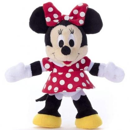 〔小禮堂〕迪士尼 米妮 四肢可動絨毛玩偶娃娃《S.黑紅》巧巧人偶.玩具.擺飾