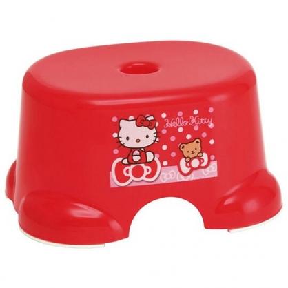 〔小禮堂〕Hello Kitty 兒童塑膠浴椅《紅.坐蝴蝶結》塑膠凳.板凳.矮凳