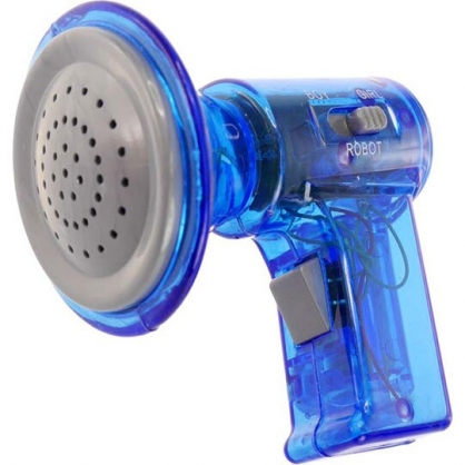 〔小禮堂〕塑膠變聲擴音器玩具《藍.泡殼裝》兒童玩具.變聲器