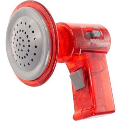 〔小禮堂〕塑膠變聲擴音器玩具《紅.泡殼裝》兒童玩具.變聲器