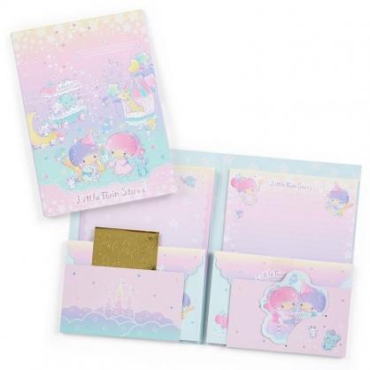〔小禮堂〕雙子星 日製信紙組《粉紫》便條紙.信封.星星銀河系列