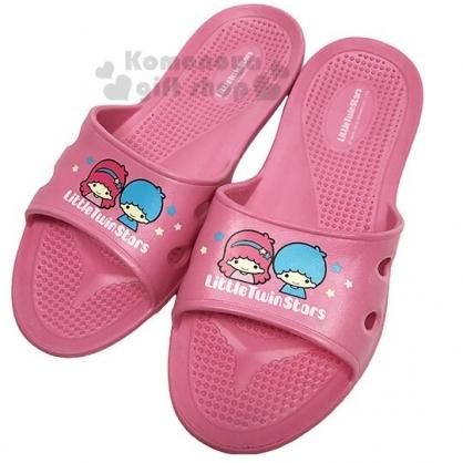 〔小禮堂〕雙子星 極輕防滑塑膠拖鞋《粉.星星》室內拖鞋.浴室拖鞋