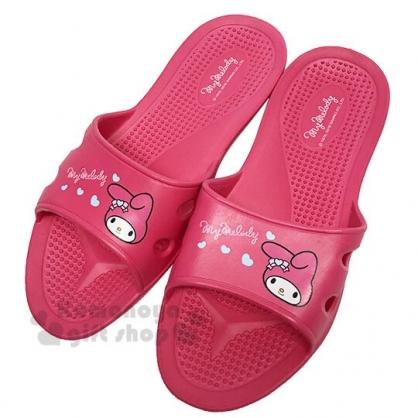 〔小禮堂〕美樂蒂 極輕防滑塑膠拖鞋《桃.愛心》室內拖鞋.浴室拖鞋