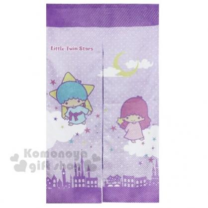 〔小禮堂〕雙子星 棉麻長門簾《淡紫.雲朵上》85x150cm.窗簾