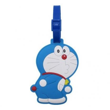 〔小禮堂〕哆啦A夢 造型矽膠行李吊牌《藍白.轉身》姓名掛牌.行李掛牌