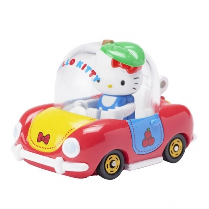 〔小禮堂〕Hello Kitty TOMICA小汽車 透明蘋果造型車《R02.紅黃》模型.公仔.玩具