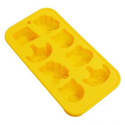 〔小禮堂〕迪士尼 玩具總動員 造型矽膠製冰模《橘.大臉》餅乾模.冰模.巧克力模