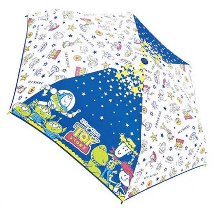 〔小禮堂〕迪士尼 玩具總動員 彎把防風傘骨折疊傘《深藍.外太空》折傘.雨具.雨傘