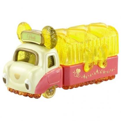 〔小禮堂〕迪士尼 小熊維尼 TOMICA小汽車水晶卡車《黃紅》珠寶車.公仔.玩具.模型