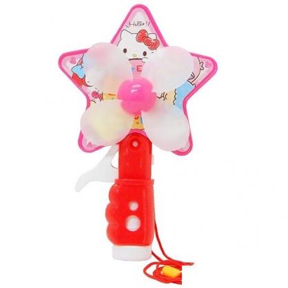 〔小禮堂〕Sanrio大集合 軟葉片星星造型手動式隨身風扇《紅粉》手握扇.手持電風扇