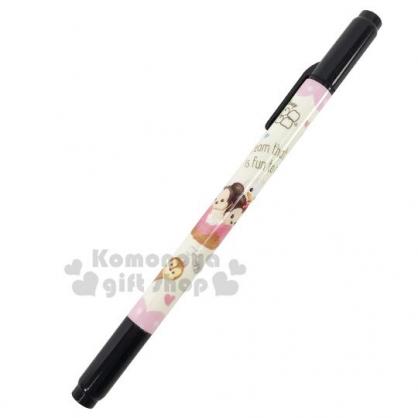 〔小禮堂〕迪士尼 TsumTsum 日製雙頭油性簽字筆《粉米.冰淇淋》奇異筆.雙頭筆